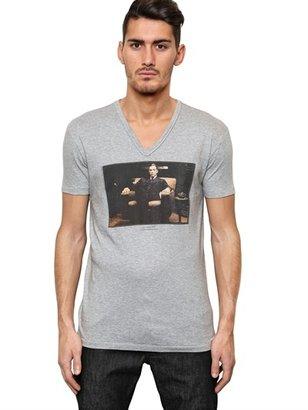 Dolce & Gabbana Al Pacino Cotton Jersey V Neck T-Shirt