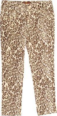 7 For All Mankind Cheetah Print Jean
