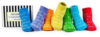 Trumpette Infants' Days of the Week Socks, Set of Seven - Size 0-12 Months
