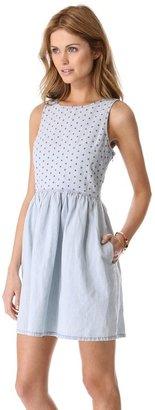 Madewell Chambray Eyelet Dress