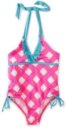 Pink Platinum Girls 2-6X Picnic Plaid Printed Swimsuit