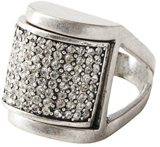 LOFT Rectangle Pave Ring