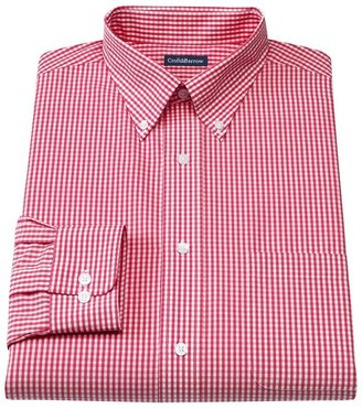 Croft & barrow ® slim-fit gingham easy-care button-down collar dress shirt