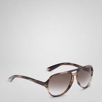 Bottega Veneta Havana brown and brown shaded lens sunglasses 184
