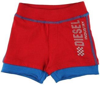 Diesel Pedityb Shorts (Newborn/Infant) (Red) - Apparel