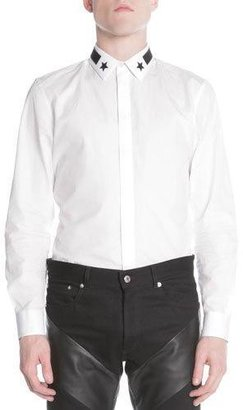 Givenchy Star & Stripe Collar Button-Down Shirt $400 thestylecure.com