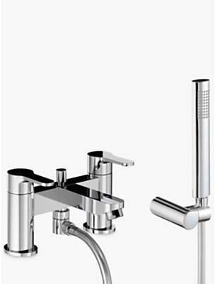 Abode Debut Deck Mounted Bath/Shower Mixer with Shower Handset