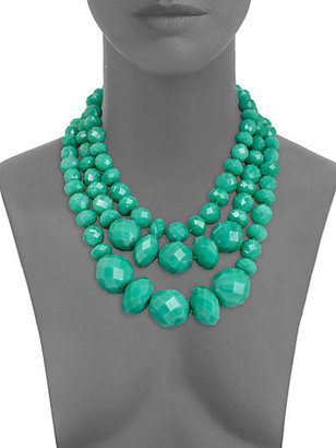 Kate Spade Give It A Swirl Faceted Multi-Strand Necklace