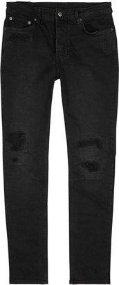 Ksubi Chitch Black Distressed Slim-leg Jeans