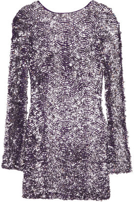 Antik Batik Walice Backless Sequin Mini Dress