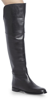 Ralph Lauren Serisa Leather Over-The-Knee Boots