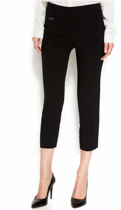 Alfani Tummy-Control Pull-On Capri Pants, Only at Macy's $34.98 thestylecure.com