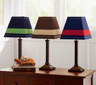 Pottery Barn Kids Rugby Stripe Shade Mason Touch Lamp Base