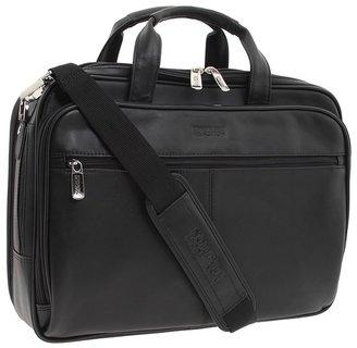 Kenneth Cole Reaction - I Rest My Case - 4 1/2 Double Gusset Top Zip Portfolio Computer Case Computer Bags $260 thestylecure.com