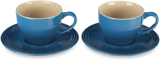 Le Creuset Stoneware Cappuccino Cups and Saucers (Set of 2)