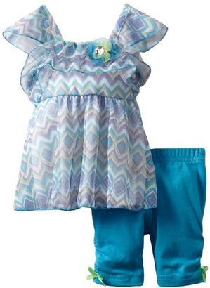Little Lass Baby-girls Infant 2 Piece Printed Mesh Skimmer Set