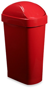Umbra Flippa Trash Can - Red