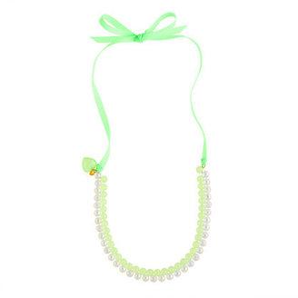 J.Crew Girls' seaglass & soap bubbles necklace