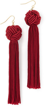Vanessa Mooney The Astrid Knotted Tassel Earrings $45 thestylecure.com