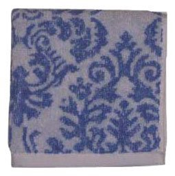 Waverly Jacquard Washcloth, Essence/Scroll, Grape Mist
