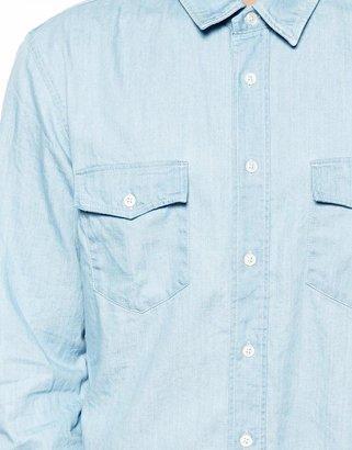 BOSS ORANGE Shirt in Chambray