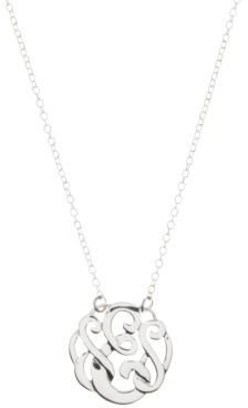 Lord & Taylor Sterling Silver E Initial Pendant Necklace