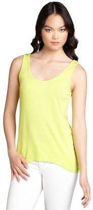 Rebecca Beeson neon green jersey knit tank top