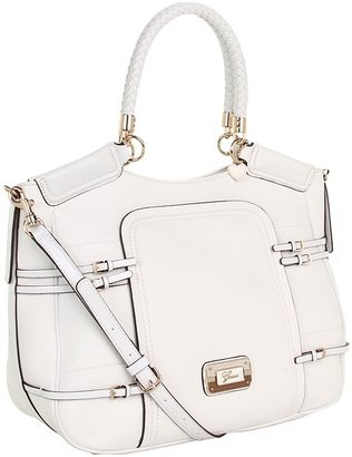 GUESS Baden Carryall (White) - Bags and Luggage