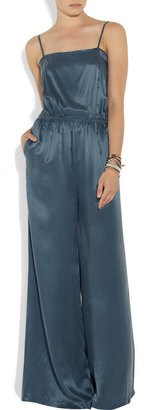 Band Of Outsiders Washed silk-satin jumpsuit