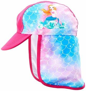Playshoes Girls' UV-Schutz Mutze Meerjungfrau Little Mermaid Swim Cap-White/Pink 1 5-2 Years