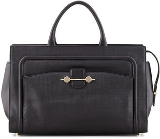 Jason Wu Daphne 2 East/West Leather Tote Bag, Black