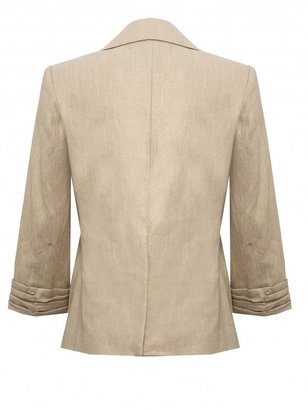 Alice + Olivia Billy Boy Scrunch Sleeve Blazer