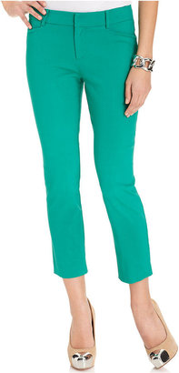Amy Byer Petite Pants, Twill Cropped Colored