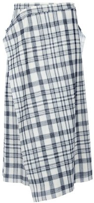Comme des Garcons Vintage check wrap over skirt