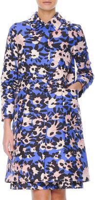 Marni Floral-Print Collared Spring Coat