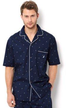 Nautica Men's Signature Pajama Shirt