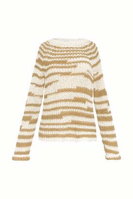 Gerard Darel Two-tone Cotton Sweater