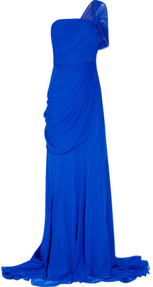 Jason Wu One-shoulder silk-chiffon gown