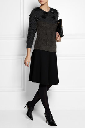 Lanvin Crystal-embellished wool sweater