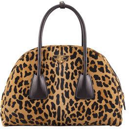 Prada Cavallino Large Vintage Bowler Bag, Brown