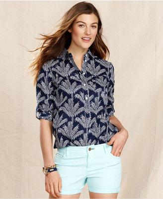 Macy's Tommy Hilfiger Shirt, Long-Sleeve Printed