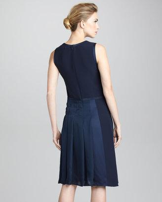 Giorgio Armani Hand-Stitched Bifabric Dress