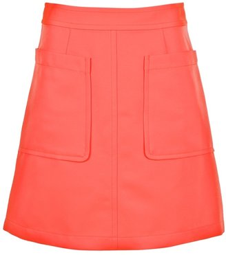 Marc by Marc Jacobs A-line neon skirt