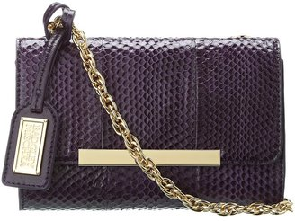 Badgley Mischka Justine Snake Shoulder Bag (Eggplant) - Bags and Luggage