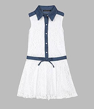 Speechless Xtraordinary 7-16 Lace Drop-Waist Dress