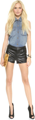 Blank Faux Leather Shorts