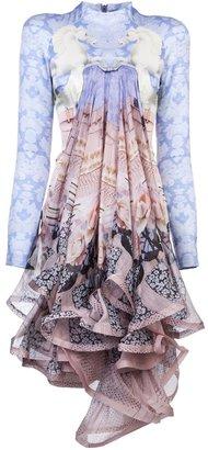 Mary Katrantzou Powdy twill dress
