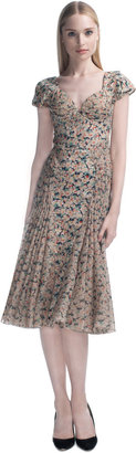 Zac Posen Harlem Rose Printed Chiffon Cocktail Dress