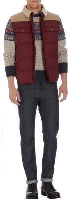 Michael Bastian Gant by Corduroy Yoke Puffer Vest