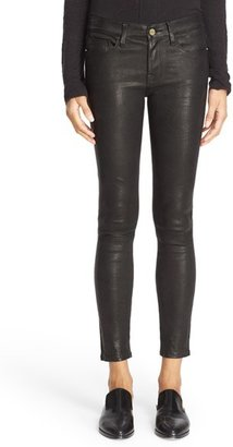 Women's Frame 'Le Skinny' Lambskin Leather Pants $950 thestylecure.com